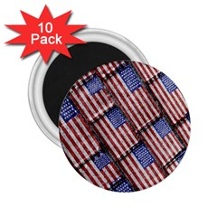 Usa Flag Grunge Pattern 2 25  Magnets (10 Pack)  by dflcprints