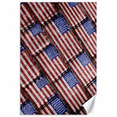 Usa Flag Grunge Pattern Canvas 20  X 30   by dflcprints