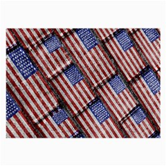 Usa Flag Grunge Pattern Large Glasses Cloth by dflcprints