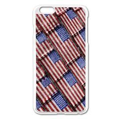 Usa Flag Grunge Pattern Apple Iphone 6 Plus/6s Plus Enamel White Case by dflcprints