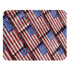 Usa Flag Grunge Pattern Double Sided Flano Blanket (large)  by dflcprints