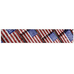 Usa Flag Grunge Pattern Flano Scarf (large)  by dflcprints