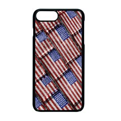 Usa Flag Grunge Pattern Apple Iphone 7 Plus Seamless Case (black) by dflcprints