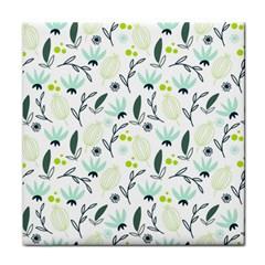 Hand Drawm Seamless Floral Pattern Face Towel by TastefulDesigns