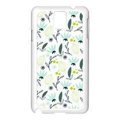 Hand Drawm Seamless Floral Pattern Samsung Galaxy Note 3 N9005 Case (white) by TastefulDesigns