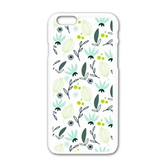Hand Drawm Seamless Floral Pattern Apple Iphone 6/6s White Enamel Case by TastefulDesigns