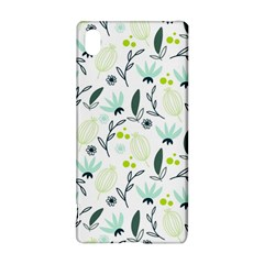 Hand Drawm Seamless Floral Pattern Sony Xperia Z3+ by TastefulDesigns