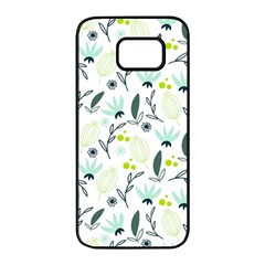 Hand Drawm Seamless Floral Pattern Samsung Galaxy S7 Edge Black Seamless Case by TastefulDesigns