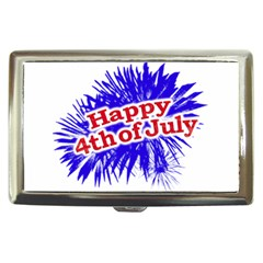 Happy 4th Of July Graphic Logo Cigarette Money Cases by dflcprints