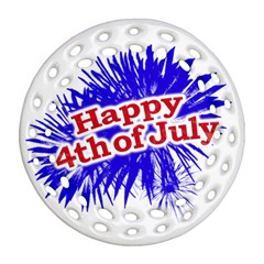 Happy 4th Of July Graphic Logo Ornament (round Filigree) by dflcprints