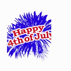 Happy 4th Of July Graphic Logo Small Garden Flag (two Sides) by dflcprints