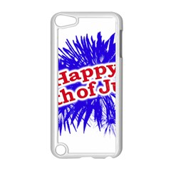Happy 4th Of July Graphic Logo Apple Ipod Touch 5 Case (white) by dflcprints