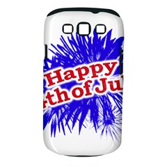 Happy 4th Of July Graphic Logo Samsung Galaxy S Iii Classic Hardshell Case (pc+silicone) by dflcprints