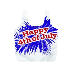 Happy 4th Of July Graphic Logo Full Print Recycle Bags (s)  by dflcprints