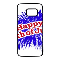 Happy 4th Of July Graphic Logo Samsung Galaxy S7 Black Seamless Case by dflcprints