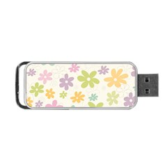 Beautiful Spring Flowers Background Portable Usb Flash (two Sides) by TastefulDesigns