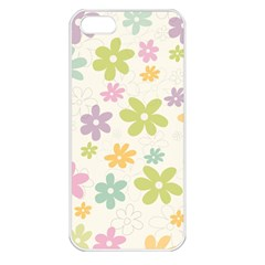 Beautiful Spring Flowers Background Apple Iphone 5 Seamless Case (white) by TastefulDesigns