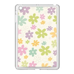 Beautiful Spring Flowers Background Apple Ipad Mini Case (white) by TastefulDesigns