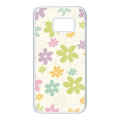 Beautiful Spring Flowers Background Samsung Galaxy S7 White Seamless Case by TastefulDesigns