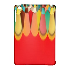 Colors On Red Apple Ipad Mini Hardshell Case (compatible With Smart Cover) by linceazul