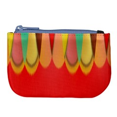 Colors On Red Large Coin Purse by linceazul