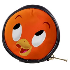 Orange Bird Mini Makeup Case / Coin Purse by mundanemagicco