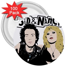 Sid And Nancy 3  Buttons (100 Pack)  by Valentinaart