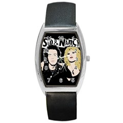 Sid And Nancy Barrel Style Metal Watch by Valentinaart