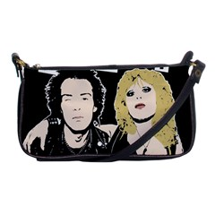 Sid And Nancy Shoulder Clutch Bags by Valentinaart