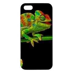 Chameleons Apple Iphone 5 Premium Hardshell Case by Valentinaart