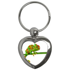 Chameleons Key Chains (heart)  by Valentinaart