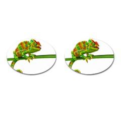 Chameleons Cufflinks (oval) by Valentinaart