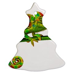 Chameleons Ornament (christmas Tree)  by Valentinaart