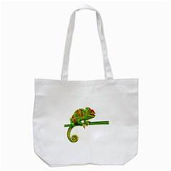 Chameleons Tote Bag (white) by Valentinaart