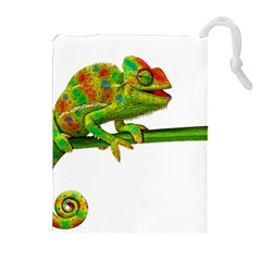 Chameleons Drawstring Pouches (extra Large) by Valentinaart