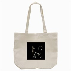 The Ring Tote Bag (cream) by Valentinaart