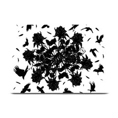 Black Roses And Ravens  Plate Mats by Valentinaart