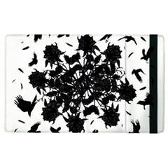 Black Roses And Ravens  Apple Ipad 3/4 Flip Case by Valentinaart