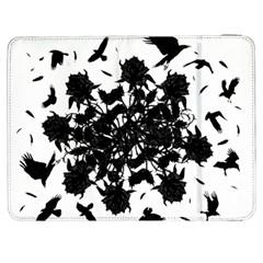 Black Roses And Ravens  Samsung Galaxy Tab 7  P1000 Flip Case by Valentinaart