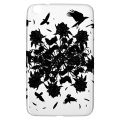 Black Roses And Ravens  Samsung Galaxy Tab 3 (8 ) T3100 Hardshell Case  by Valentinaart