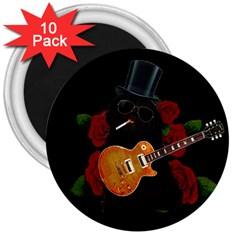 Puli Dog   Slash  3  Magnets (10 Pack)  by Valentinaart