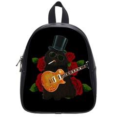 Puli Dog   Slash  School Bags (small)  by Valentinaart
