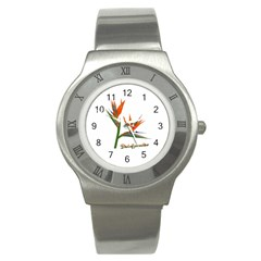 Bird Of Paradise Stainless Steel Watch by Valentinaart