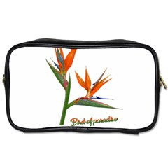 Bird Of Paradise Toiletries Bags 2 Side by Valentinaart