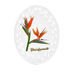 Bird Of Paradise Oval Filigree Ornament (two Sides) by Valentinaart