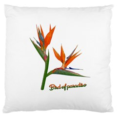 Bird Of Paradise Large Flano Cushion Case (two Sides) by Valentinaart