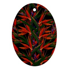 Bird Of Paradise Ornament (oval) by Valentinaart