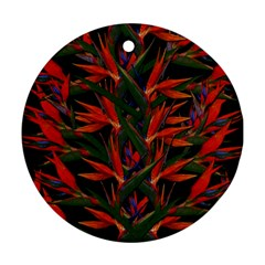 Bird Of Paradise Round Ornament (two Sides) by Valentinaart
