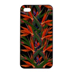 Bird Of Paradise Apple Iphone 4/4s Seamless Case (black) by Valentinaart