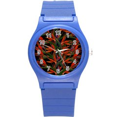Bird Of Paradise Round Plastic Sport Watch (s) by Valentinaart